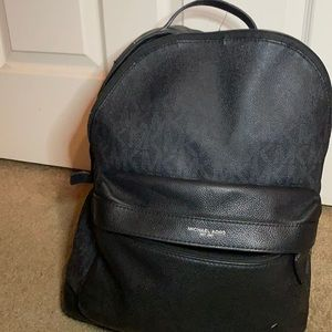 Black authentic Michael Kors backpack unisex